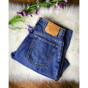 Levi's 550 vintage orange tab high rise jeans 10